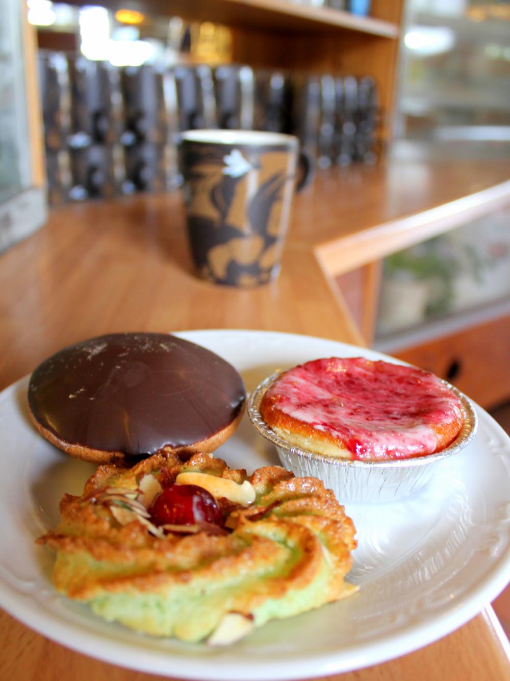 fika with coffee chocolate-cake